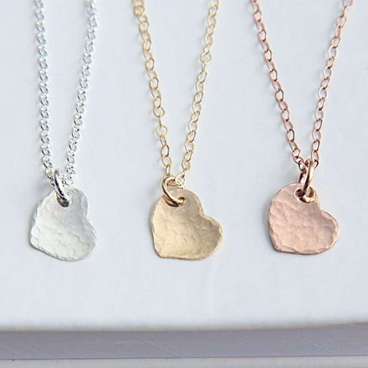Women's Girls Charming Love Heart Pendant Necklace Rose ...