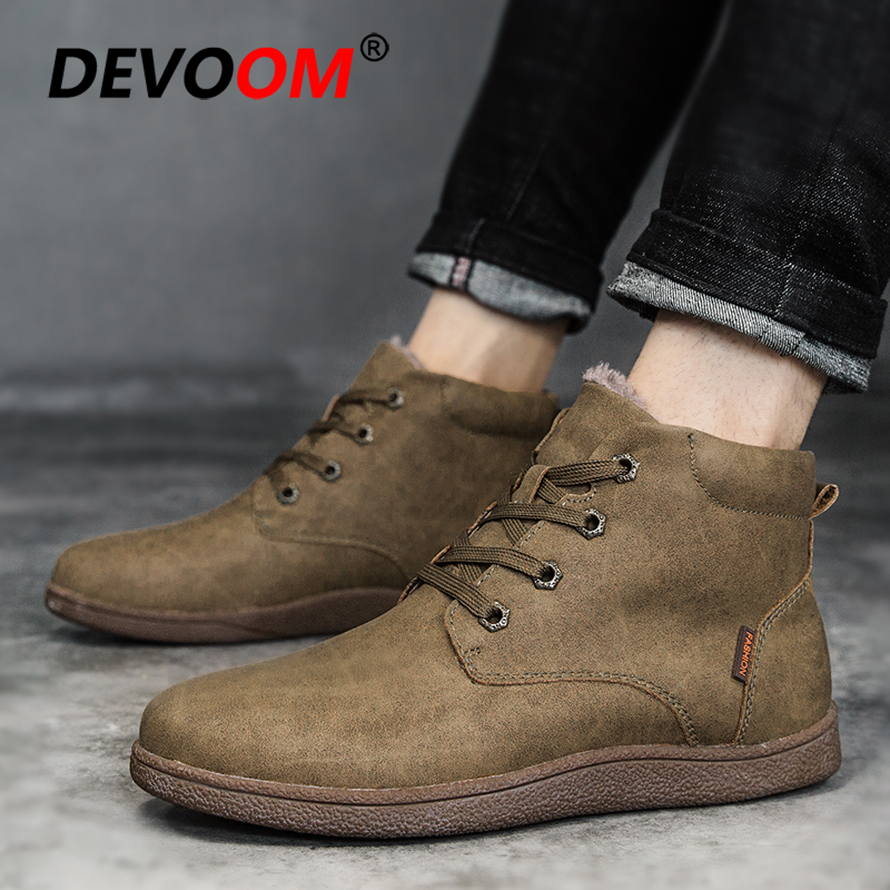 Hot Sale New 2018 Winter Boots Men Fashion Moccasin Shoes Men Leather Shoes Solid Mens Boots Casual Warm Fur Snow Boot Plus Size hot sale men down parkas 2016 men thick coats casual men fashion outwears windproof men warm thick downs 5xl plus size quality