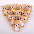 Cute Lovely Rilakkuma Teddy Bear Mini Plush Toys with keychain Pendant Soft Stuffed Dolls 10.5cm 10pcs/lot
