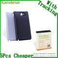 Kandese prolongado de grande capacidade 7200 mah substituição bateria de lítio para o telefone samsung galaxy note n7000 i9220 com tampa traseira