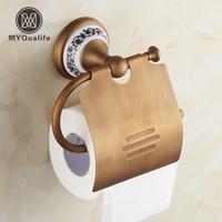 Livraison Gratuite En Gros Et Retainl Bleu et Blanc Porcelaine Style Porte Papier Toilette Salle De Bains Rouleau De Tissu Rack