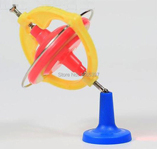 Free ship 4pc teenage children kids scientific science educational models experimental toys materials magic spinning gyroscope