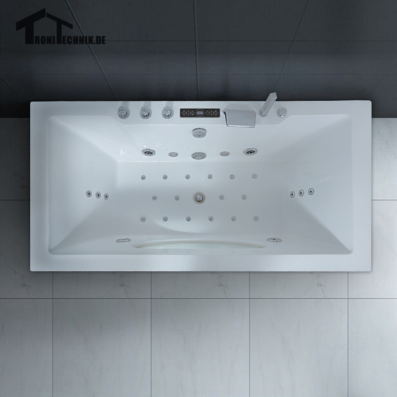 1700mm Whirlpool Bath tub Shower spa freestanding Air Massage ...