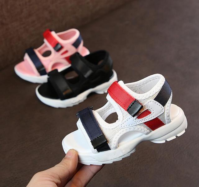 Baby comfortable sandals 2019 summer new boy girls beach shoes kids casual sandals children fashion sport sandals size 21-30