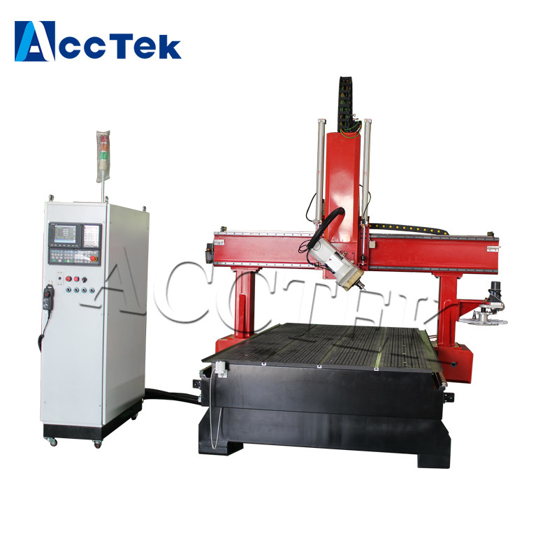 AccTek Cnc Machine Manufacturers 1325 4 Axis Wood Cnc Router For Pvc Cutting