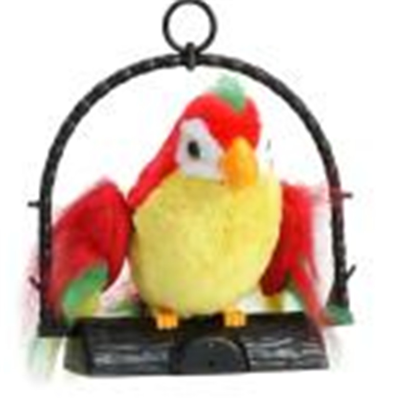 2017 * Waving Wings Talking Talk Parrot Imitates & Repeats What You Say Gift Funny Toy promotes brain development learning