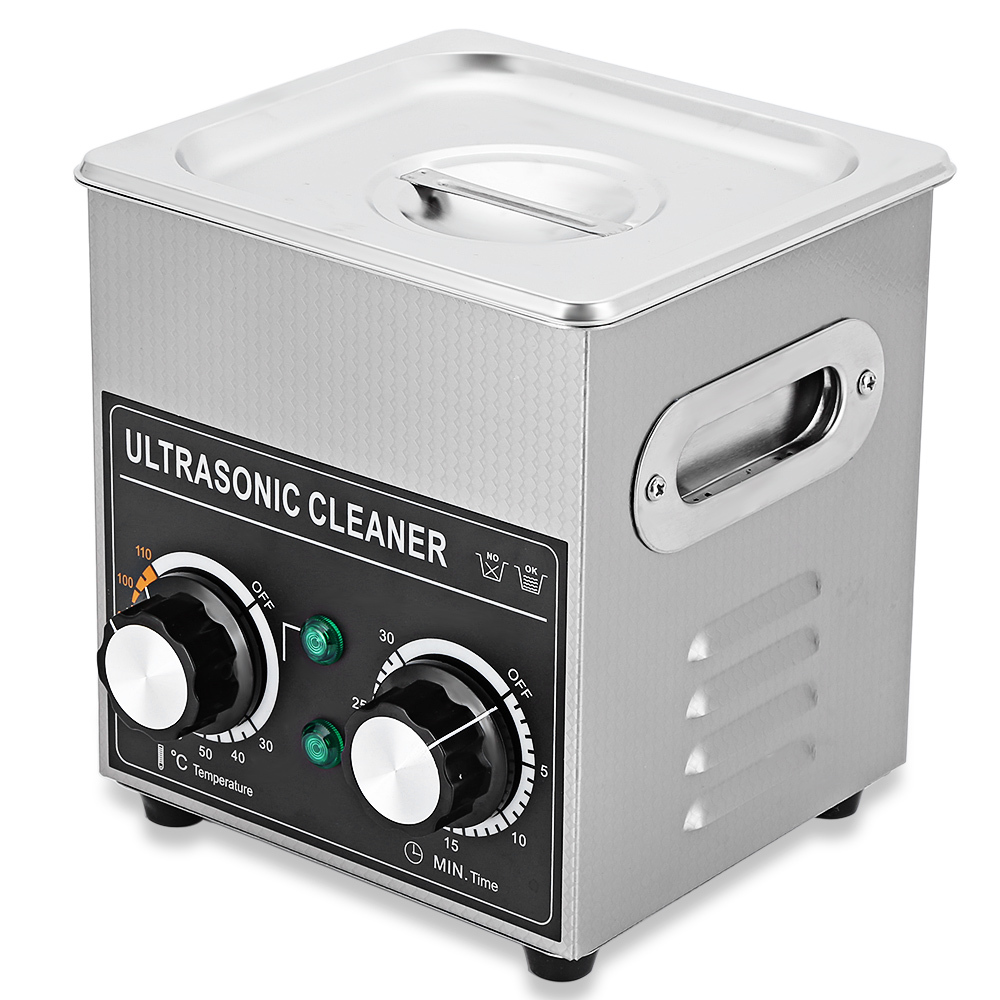 Portable Ultrasonic Cleaner 2L Cleaning Machine Ultrasonic Cleaner Bath with Heater Timer Cleaning Jewelry Glasses AC 220 - 240V 2l ultrasonic cleaner heater power adjustable for contact lens jewelry rings dental eyeglasses pcb cleaning machine transducer