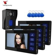 Yobang Security freeship 7 Inch Doorbell Camera Video Intercom Door Phone with RFID Card Reader Wide Angle Peephole Viewer