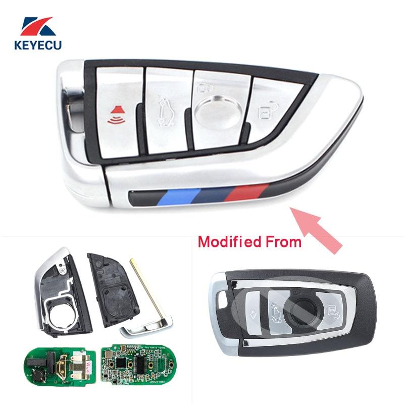 KEYECU Modify New Stylish Remote Car Key Fob 4 Button 868MHz PCF7953 For BMW CAS4 CAS4+ F Platform X3 X4 M3 2011-2017