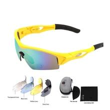 цены на 2019 Men Women Cycling SunGlasses Outdoor Sports Riding Fishing Driving Goggles MTB Road Eyewear UV400 5 Lens Oculos Ciclismo  в интернет-магазинах