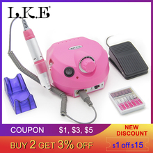 LKE 35000RPM Pro Electric Nail Drill Machine Apparatus for Manicure Pedicure with Cutter Nail Drill Art Machine Kit Nail tools цена 2017