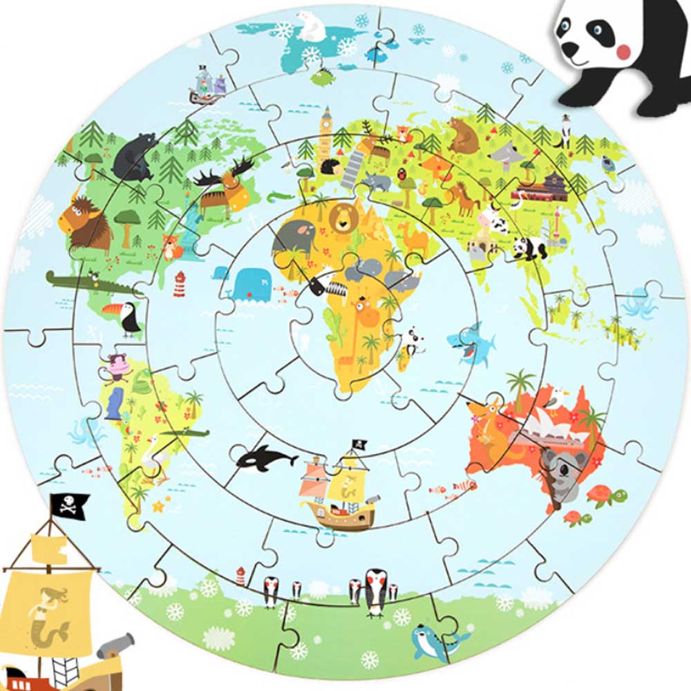 Preschool World Map.Wood Puzzles For Children Learning Toy World Map Puzzle Kids