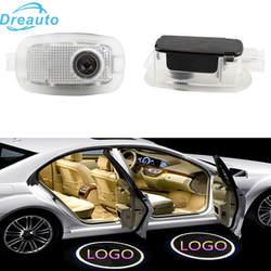 Dreauto 2 шт. светодиодный двери автомобиля Добро пожаловать Свет для Brabus S класса Беспроводной 3D проектор Лазерный Логотип Призрак Тень лампы