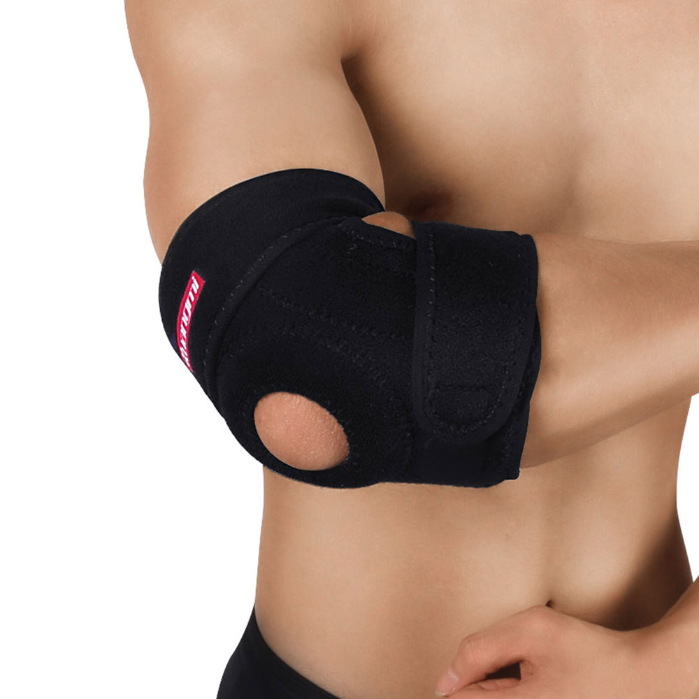 Kuangmi Elbow Pads breathable Elbow Support Brace Basketball Arm Compression Volleyball Sports Fitness Ultra Guard cotoveleira in Elbow Knee Pads from Sports Entertainment