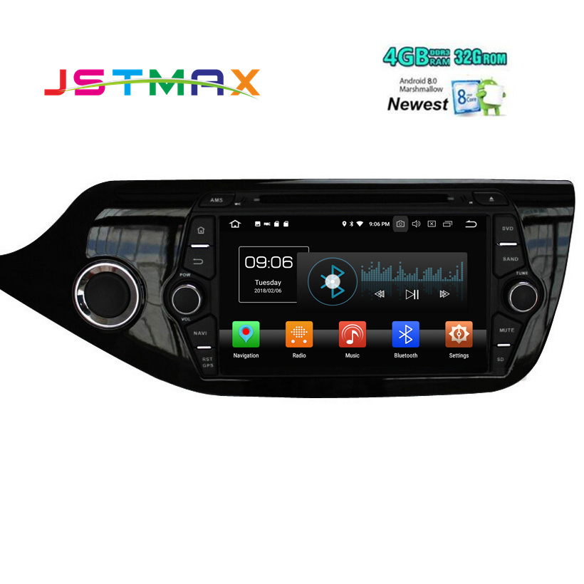 8 Android 8.0 IPS Octa core 4+32g Car Multimedia Player For KIA Ceed 2013 2014 2015 201 Audio Radio Headunit 2din Android Radio