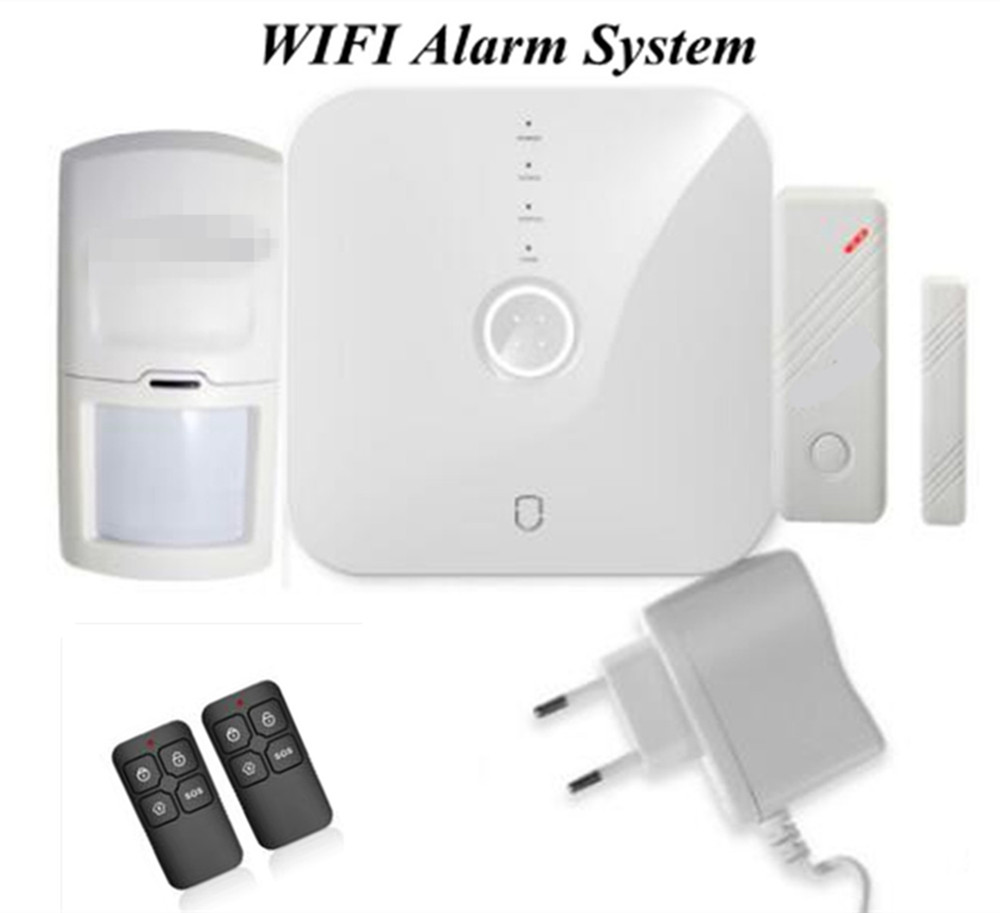 Wifi Burglar Alarm System Door Sensor PIR Motion Detector Home Security Alarm System APP Remote Control intelligent home security alarm system with new door sensor pir detector app control sms gsm alarm system support rfid keypad