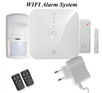 Wifi Burglar Alarm System Door Sensor PIR Motion Detector Home Security Alarm System APP Remote Control