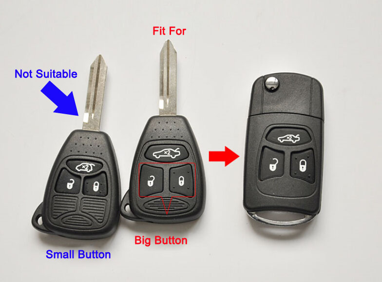 New Modified Flip Folding Remote Key Shell Case For