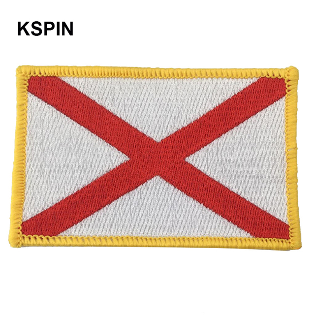 ALABAMA Rectangle Shape Flag patches embroidered flag patches national flag  patches Free Shipping