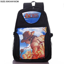 Anime One Piece Ace Laptop Black Backpack/Double-Shoulder/School/Travel Bag for Teenagers or Animation Enthusiasts