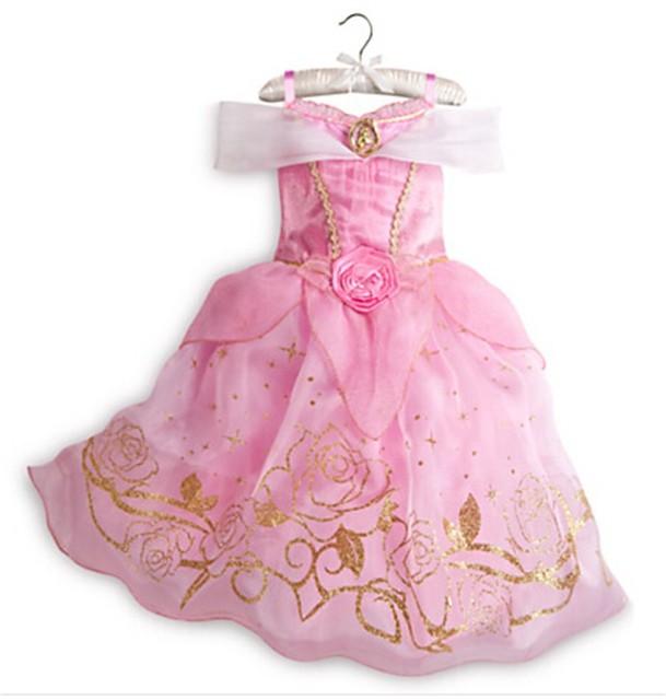 Moda disfraces de halloween cenicienta belle princesa bella durmiente vestido sofia niños disfraces niña