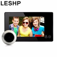 LESHP 4 3 Inch Smart Digital Door Viewer Camera Visual Monitor Door Peephole Camera 145 Viewing