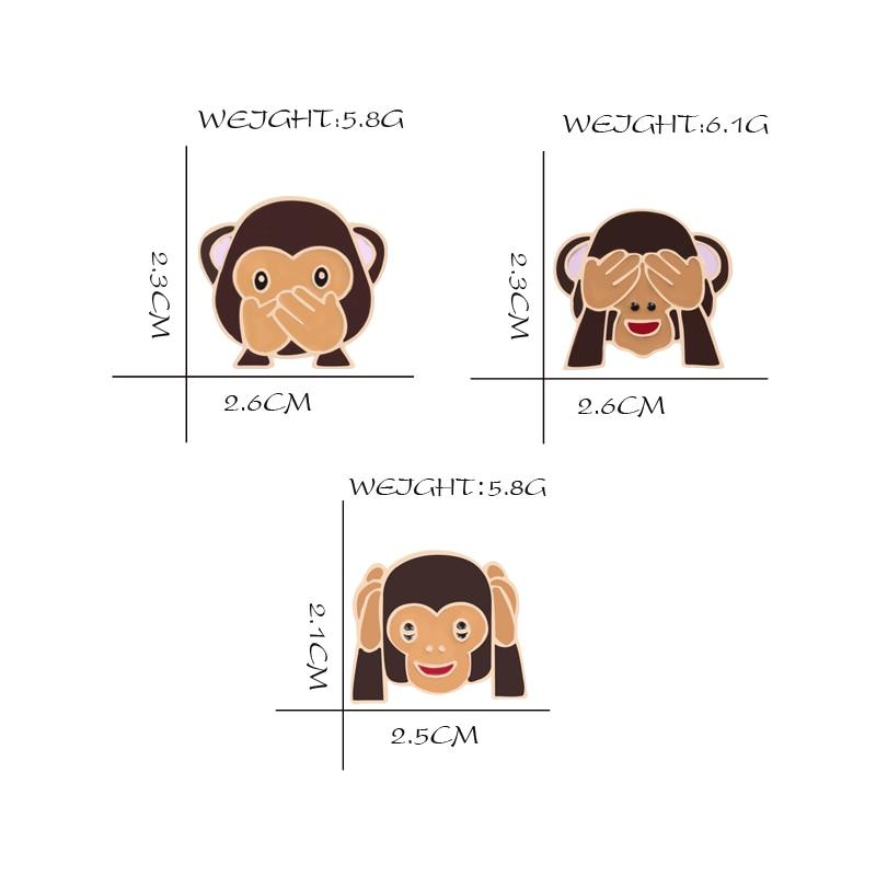 Emoji  Monkey Brooch Pins 5