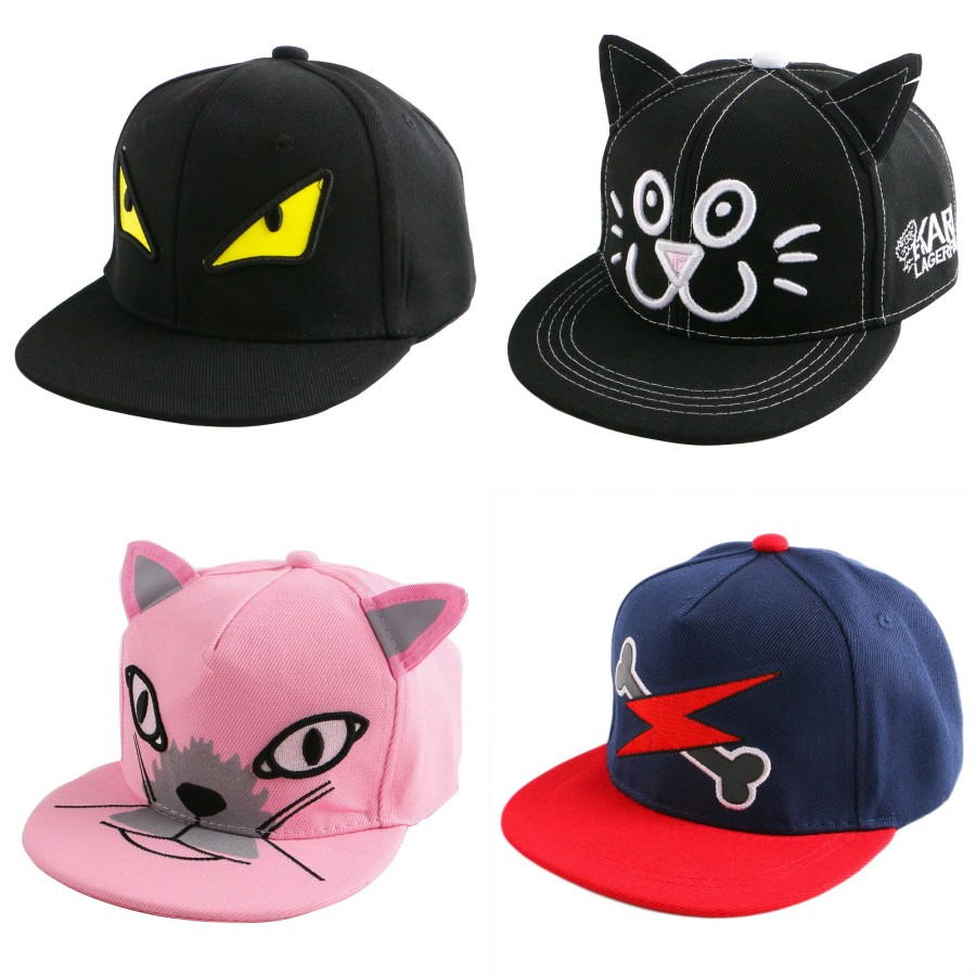 new trendy children child hip hop snapback hat novelty character eye design fitted boy girl brand baseball cap baby casquette