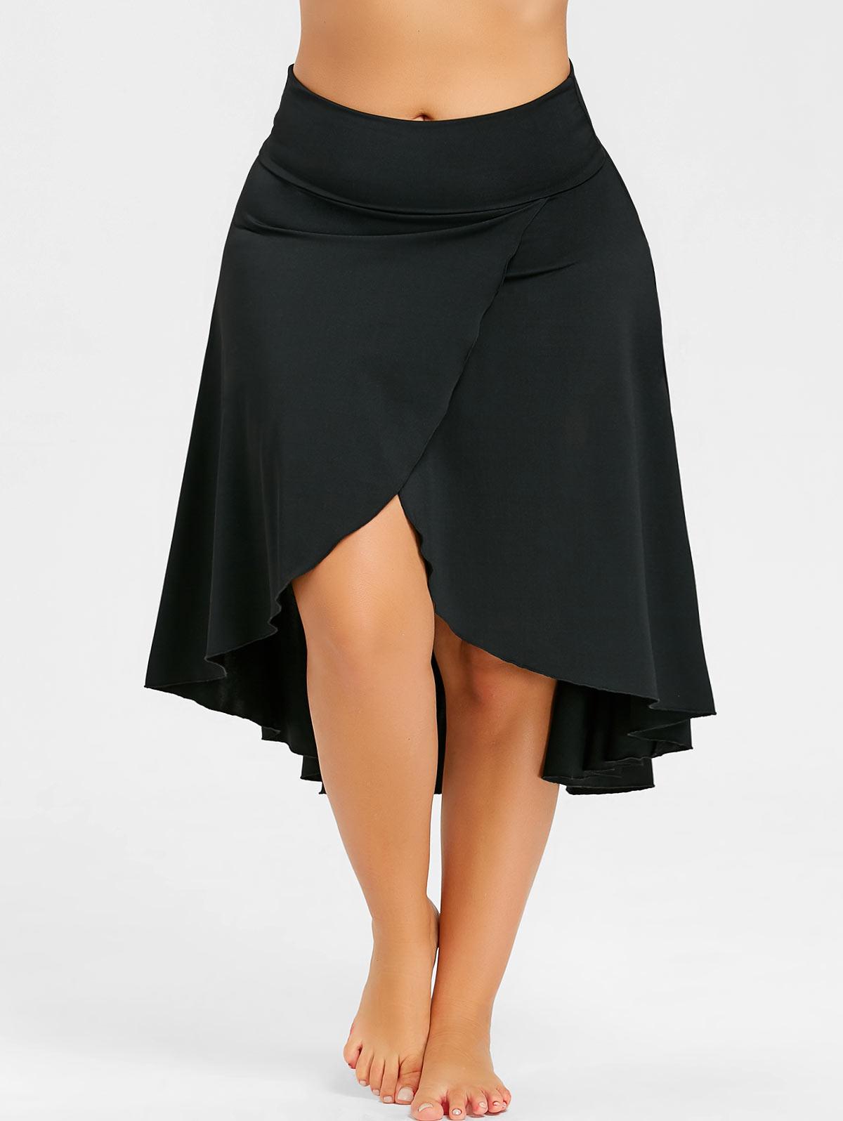 Gamiss Women Fashion Asymmetrical Plus Size 5XL Split High ...