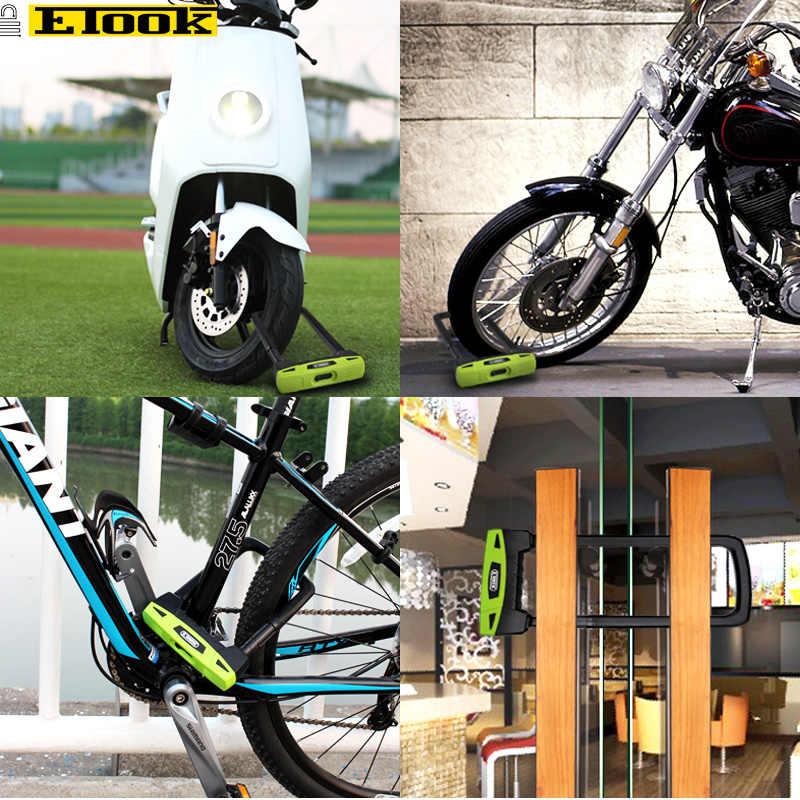 Etook Sepeda U-Lock High End 20T Hidrolik Geser Tahan Lock Motor Kunci Nyaman Kunci Frame Aksesoris Sepeda