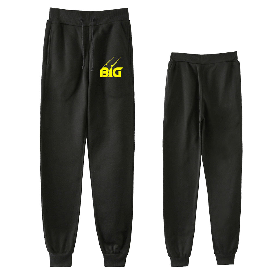 B.I.G men Hip Hop B.I.G Pants Trousers Kpop Fashion Casual High Quality New Casual Warm BIGGIE Pants Slim Kpop BIGGIE Pants(China)