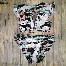 plus size ruffled floral swimwear
