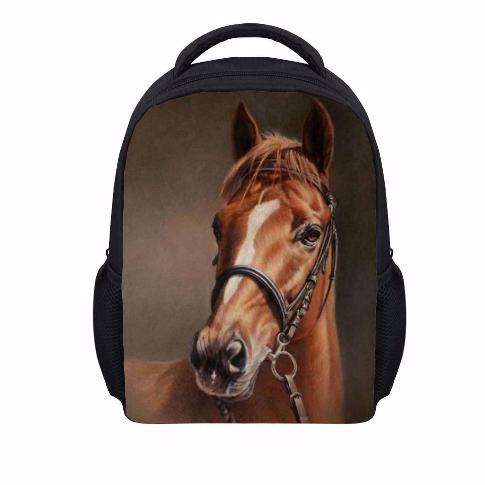 Noisydesigns 3D Kids School Bags for girls Teenage horse cool lovely Student Schoolbag Children Book Polyester Bag Mochila