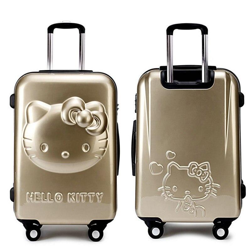 Flickor Hello Kitty Trolleyväska 3D Cartoon Trolley Bagageväska - Väskor för bagage och resor - Foto 2