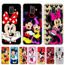 Mickey Minnie Phone Case For Samsung Galaxy J3 J5 J7 A5 2016 2017 Cover Soft Silicone Cases For Samsung J4 J6 A6 A8 Plus 2018(China)
