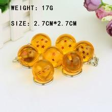 7 Species 2.7cm Dragon Ball Z 7 Stars Balls PVC Figures Toys Keychain Pendant Keyring 1 2 3 4 5 6 7 star set Gifts