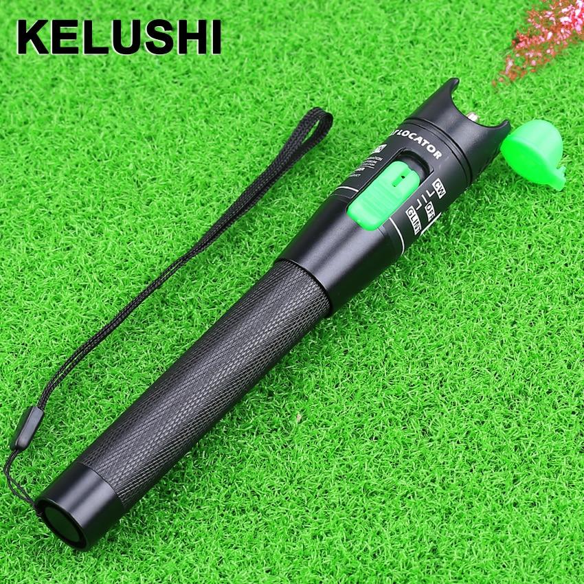KELUSHI Novo Portátil Ponteiro Laser 20 mW 20 km localizador visual de falhas de fibra óptica, Teste de Produto a Laser 650nm Para CATV