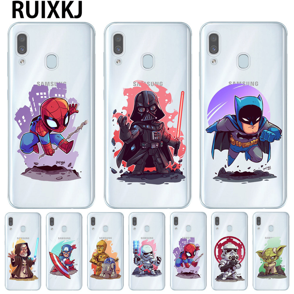 <font><b>Marvel</b></font> DC Comics Superhero <font><b>Phone</b></font> <font><b>Cases</b></font> For Samsung Galaxy A10 A20 A30 A40 A50 A70 Back Cover Soft TPU <font><b>Cases</b></font> Coque Capa image