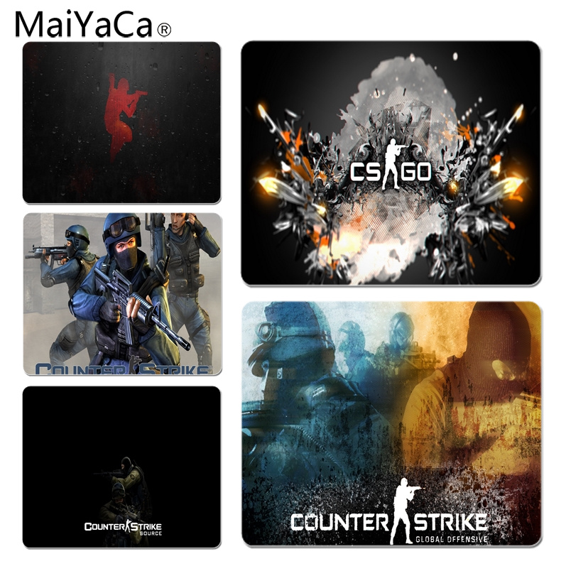 MaiYaCa Your Own Mats CS Go Laptop Computer Mousepad Size for 18x22cm 25x29cm Rubber Mousemats