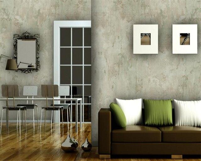 Beibehang Plain einfache beton wand textur vlies tapete wand ...