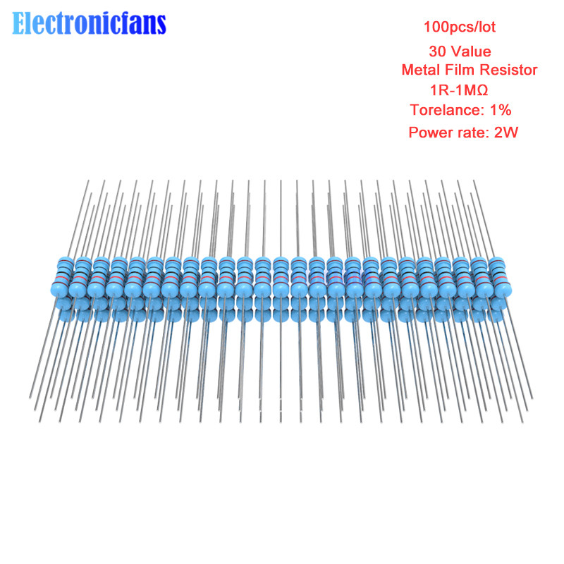 100pcs resistencias de película metálica 1//4w 1/% 820k Ohm 820kohm 820kω