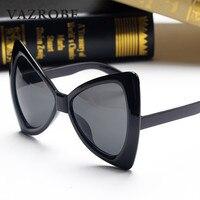 Vazrobe Butterfly Sunglasses Women Oversized Sun Glasses For Female Vintage Retro Black Mirror Shades Decoration Steampunk