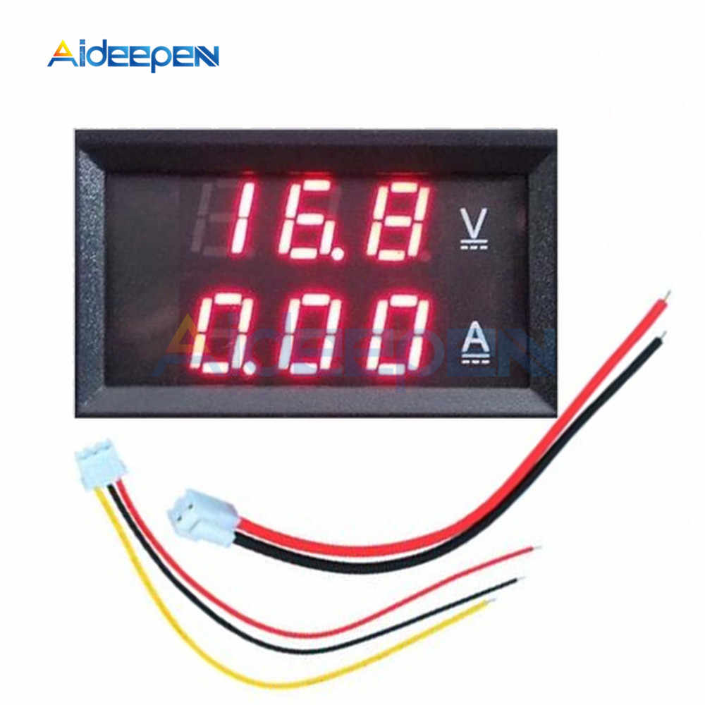 Dc 100v 10a Led Digital Voltmeter Ammeter 3 Bit 5 Wires Voltage Meter Current Meter Amp Volt Meter Tester Detector Red Display Aliexpress