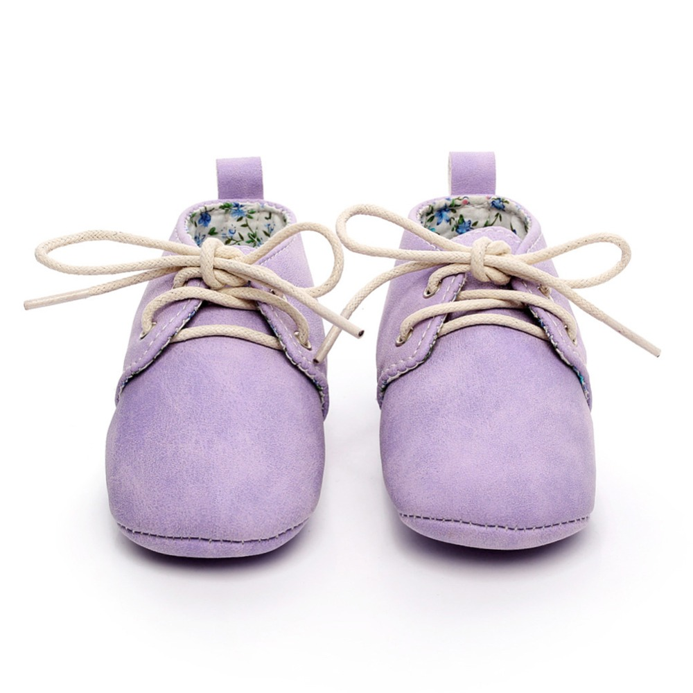 New Arrival British Style Baby Girls Boys crib Shoes Moccasins Soft infants Lace-up First Walker Soft bottom Shoes 0-24M