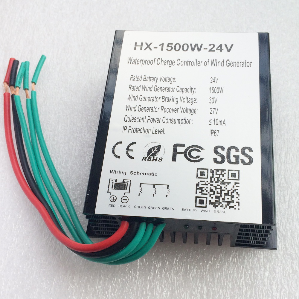 1500w Wind Turbine Generator Charge Controller 24v 48v Battery Wiring Schematic Waterproof Ip67 Can Outdoor In Alternative Energy Generators From Home