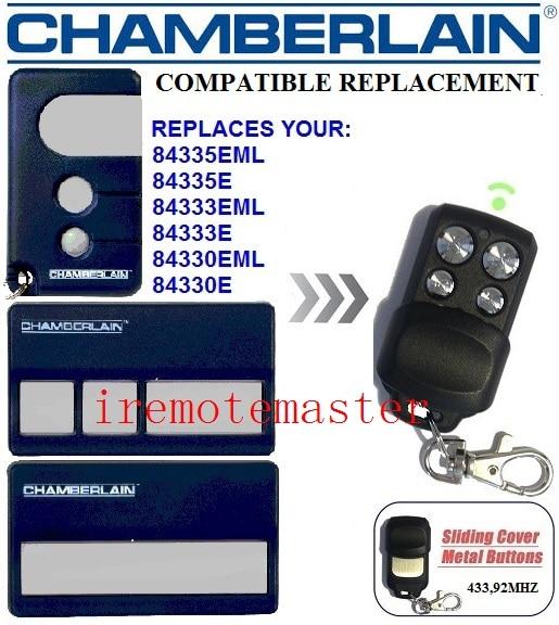 CHAMBERLAIN 84335EML,84335E,84333EML,84330E  Repalcement Garage Door Remote