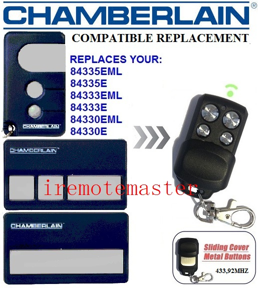 The Remote For CHAMBERLAIN 84335EML,84335E,84333EML,84330E  Repalcement Garage Door Remote
