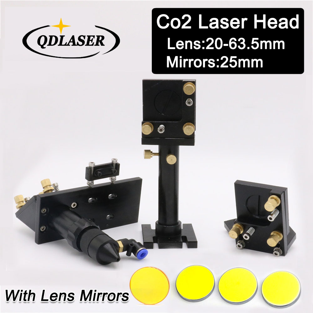 CO2 Laser Cutting Head Set  Silicon Reflect Mirror 25mm USA Focus Lens 20mm-63.5mm for Laser Engraving Cutting Machine laser focus lens for laser welding machine spot welder co2 laser engraving cutting machine free shipping