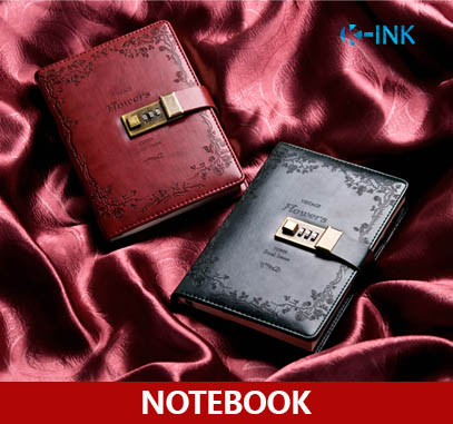 B6 Vintage Business Notebook with Passwords , Hardcover , Lock Notebook a5 hardcover lock notebook    vintage