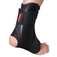 Kuangmiสนับสนุนข้อเท้ารั้งกีฬาเท้าโคลงOrthosisปรับสายรัดข้อเท้าแผ่นระบายอากาศฟุตบอลถุง
